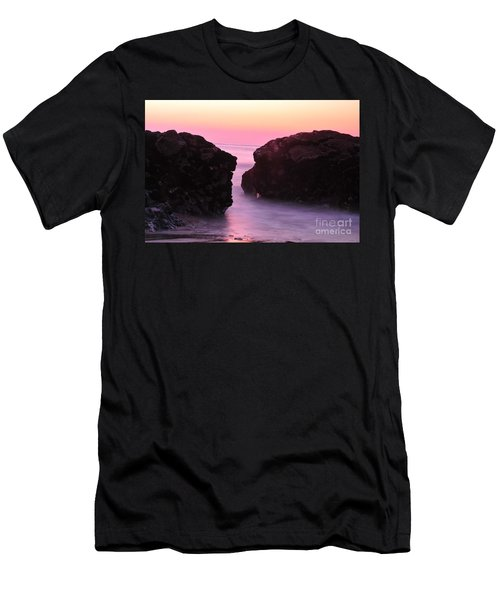 Fine Art Water And Rocks Men's T-Shirt (Athletic Fit)