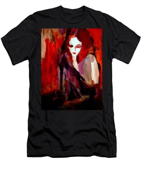 Men's T-Shirt (Slim Fit) featuring the painting Finesse by Helena Wierzbicki