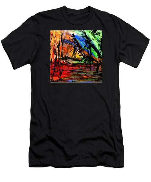 Fire And Flood Men's T-Shirt (Slim Fit) by Helen Syron