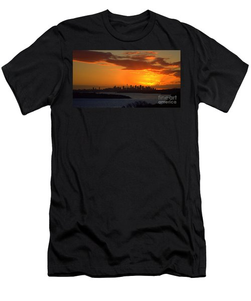 Men's T-Shirt (Slim Fit) featuring the photograph Fire In The Sky by Miroslava Jurcik
