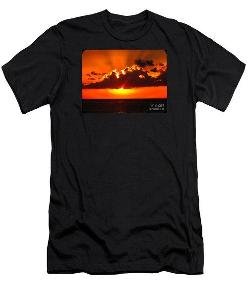 Fire In The Sky Men's T-Shirt (Slim Fit) by Patti Whitten
