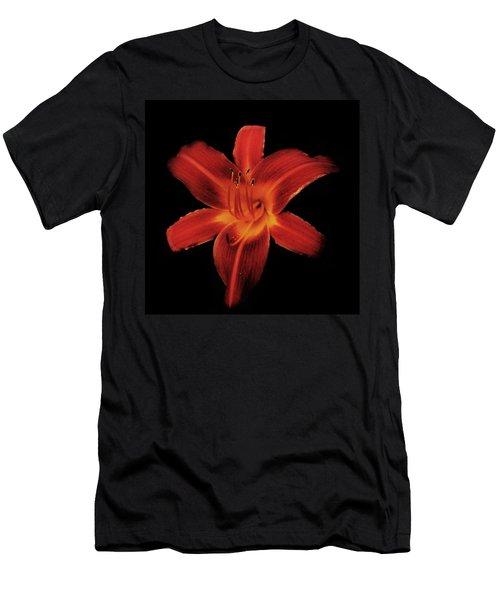 Fire Lily Men's T-Shirt (Slim Fit) by Michael Porchik
