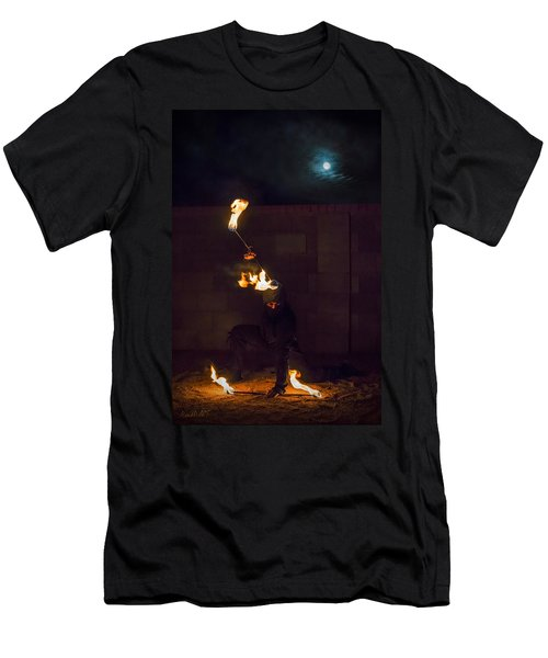 Fire Ninja Men's T-Shirt (Athletic Fit)