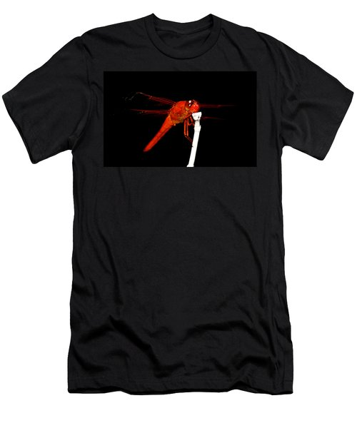 Men's T-Shirt (Slim Fit) featuring the photograph Fire Red Dragon by Peggy Franz
