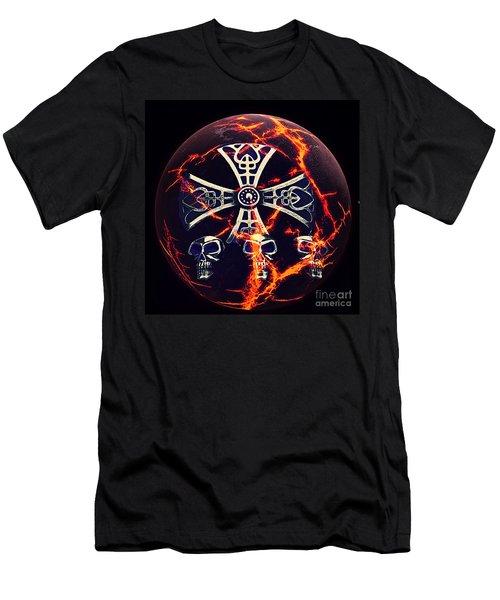 Fire Skulls Men's T-Shirt (Athletic Fit)