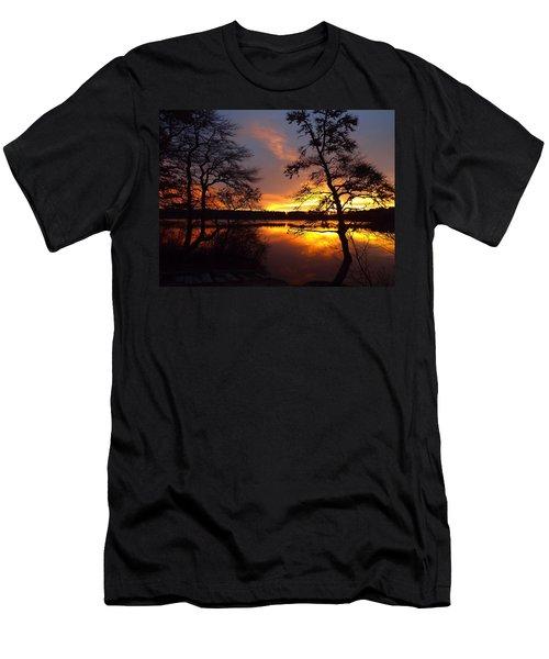Men's T-Shirt (Slim Fit) featuring the photograph Sunrise Fire by Dianne Cowen