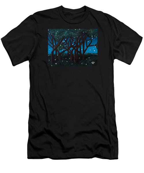 Fireflies Men's T-Shirt (Slim Fit) by Cheryl Bailey