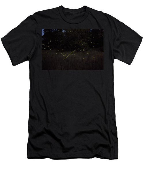 Firefly Traces On A Summer Night Men's T-Shirt (Athletic Fit)