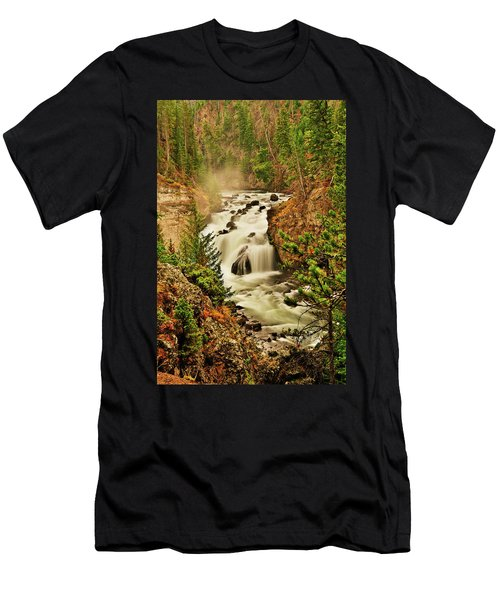 Firehole Falls Men's T-Shirt (Slim Fit) by Greg Norrell
