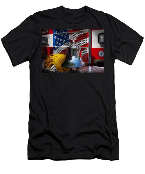 Fireman - Red Hot  Men's T-Shirt (Athletic Fit)