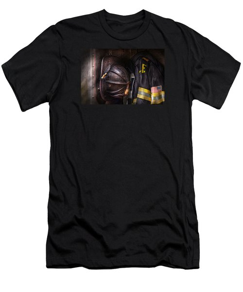 Fireman - Worn And Used Men's T-Shirt (Slim Fit) by Mike Savad
