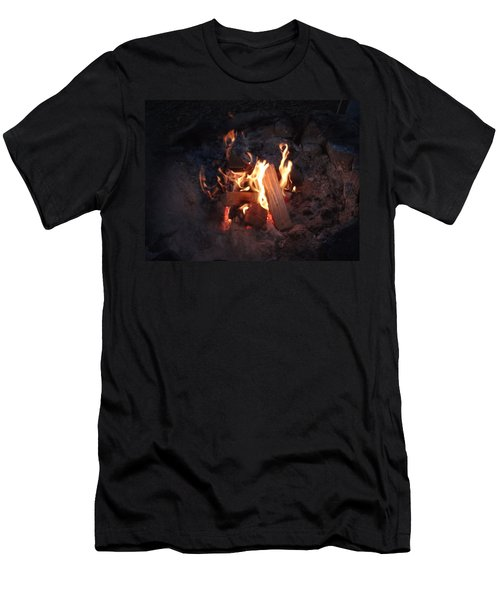 Fireside Seat Men's T-Shirt (Slim Fit) by Michael Porchik