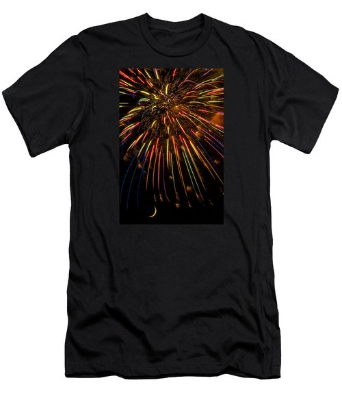 Firework Indian Headdress Men's T-Shirt (Athletic Fit)
