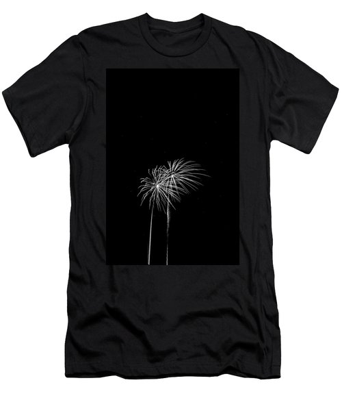 Firework Palm Trees Men's T-Shirt (Athletic Fit)