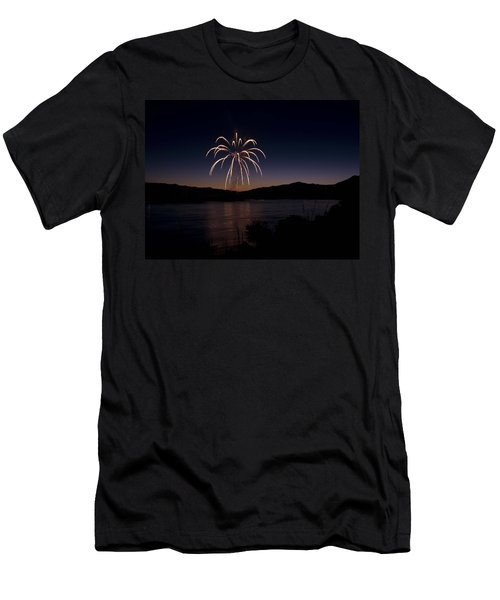 Men's T-Shirt (Slim Fit) featuring the photograph Fireworks 11 by Sonya Lang