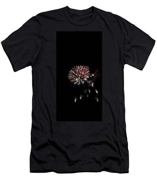 Fireworks At Night Men's T-Shirt (Athletic Fit)
