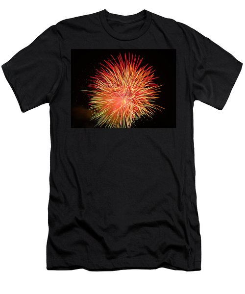 Fireworks  Men's T-Shirt (Slim Fit) by Michael Porchik