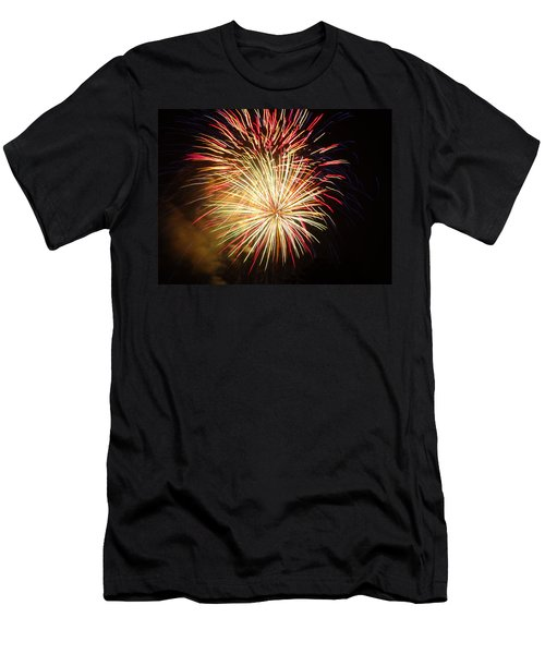 Fireworks Over Chesterbrook Men's T-Shirt (Slim Fit) by Michael Porchik