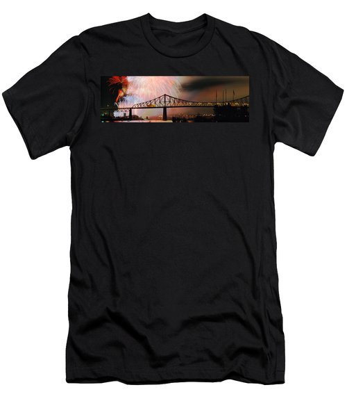 Fireworks Over The Jacques Cartier Men's T-Shirt (Athletic Fit)