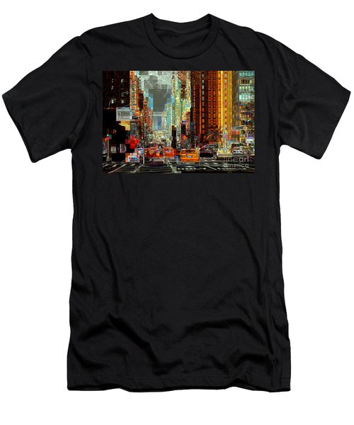 First Avenue - New York Ny Men's T-Shirt (Athletic Fit)
