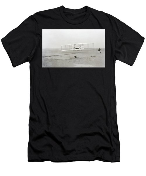 First Flight Captured On Glass Negative - 1903 Men's T-Shirt (Athletic Fit)