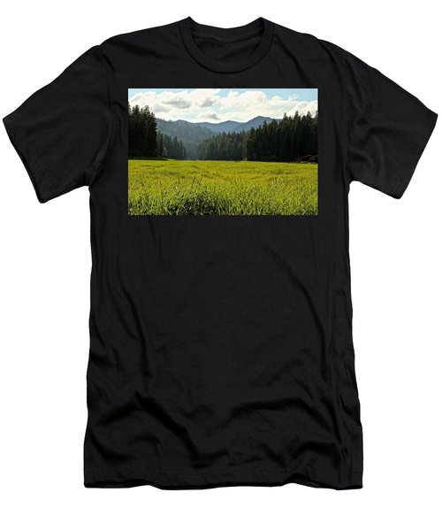 Fish Lake - Open Field Men's T-Shirt (Athletic Fit)