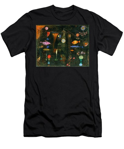 Men's T-Shirt (Athletic Fit) featuring the painting Fish Magic by Paul Klee