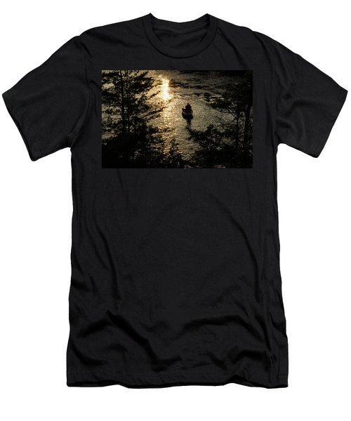 Fishing At Sunset - Thousand Islands Saint Lawrence River Men's T-Shirt (Athletic Fit)
