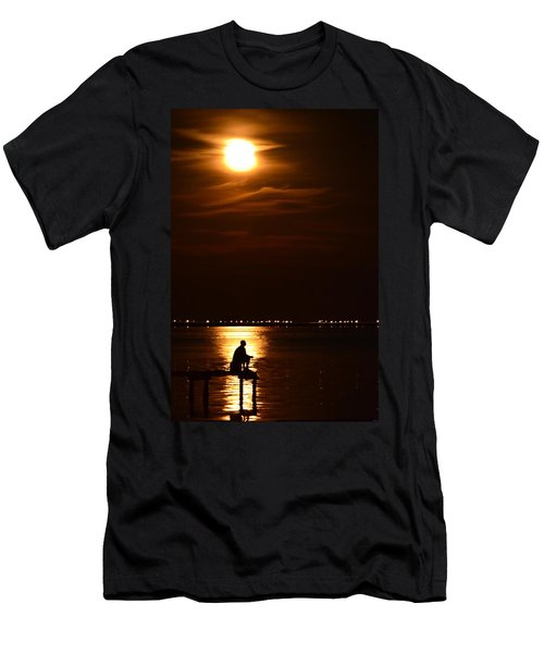 Fishing By Moonlight01 Men's T-Shirt (Slim Fit) by Jeff at JSJ Photography