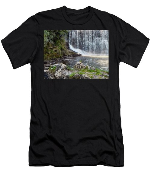 Men's T-Shirt (Slim Fit) featuring the photograph Fishing Hole by Deb Halloran