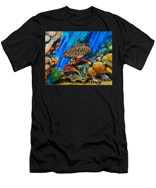 Fishtank Men's T-Shirt (Slim Fit) by Steve Ozment
