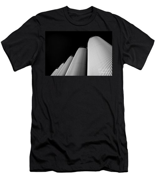 Five Silos In Black And White Men's T-Shirt (Athletic Fit)