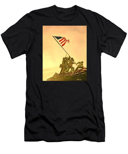 Flag Raising At Iwo Jima Men's T-Shirt (Athletic Fit)