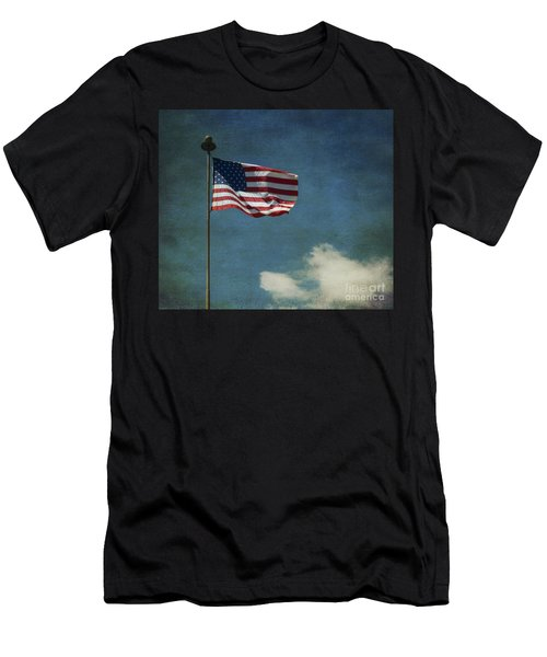 Flag - Still Standing Proud - Luther Fine Art Men's T-Shirt (Athletic Fit)