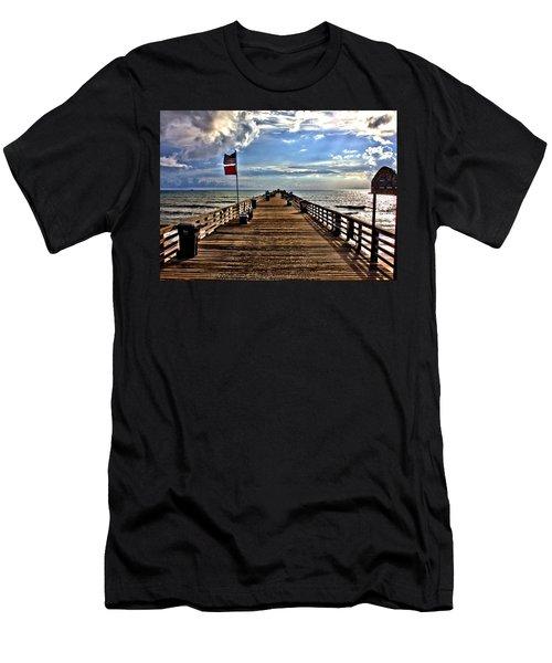 Flagler Pier Men's T-Shirt (Athletic Fit)