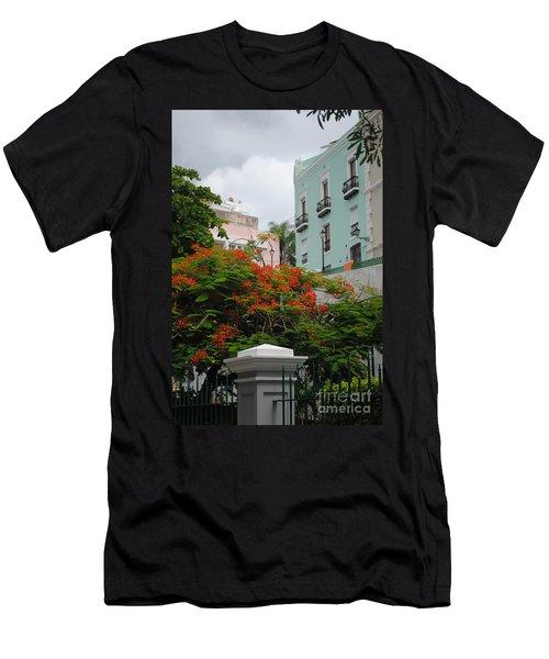 Flamboyan In Park Men's T-Shirt (Athletic Fit)