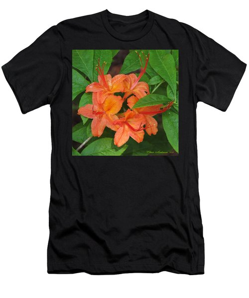 Men's T-Shirt (Slim Fit) featuring the photograph Flame Azalea by Chris Anderson
