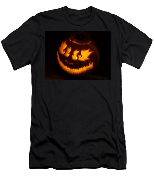 Flame Pumpkin Side Men's T-Shirt (Slim Fit) by Shawn Dall