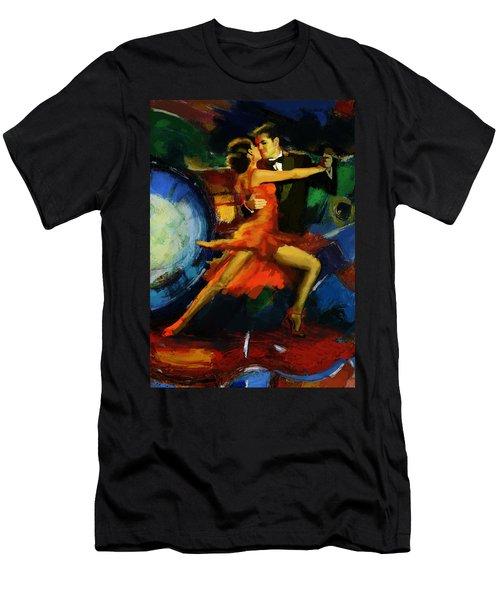 Flamenco Dancer 029 Men's T-Shirt (Athletic Fit)