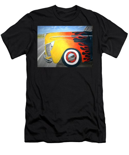 Men's T-Shirt (Slim Fit) featuring the painting Flames by Stacy C Bottoms