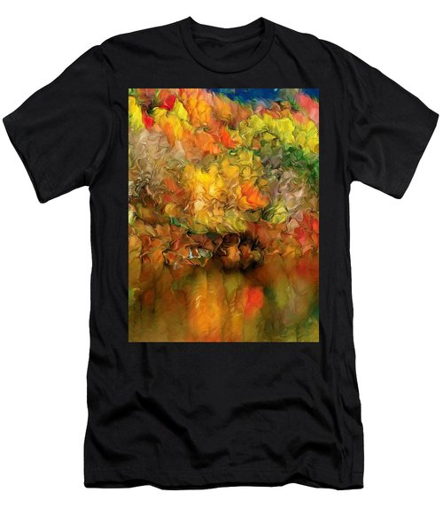 Flaming Autumn Abstract Men's T-Shirt (Athletic Fit)