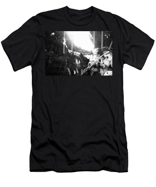 Men's T-Shirt (Slim Fit) featuring the photograph Flaming Gene by Steven Macanka