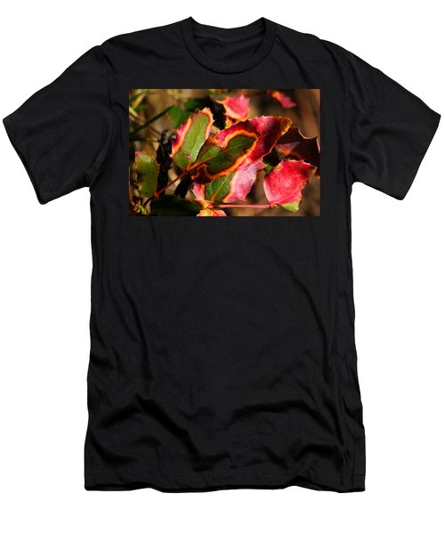 Flaming Leaves Men's T-Shirt (Athletic Fit)
