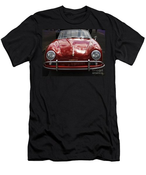 Flaming Red Porsche Men's T-Shirt (Slim Fit)
