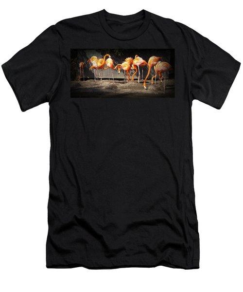 Flamingo Hangout Men's T-Shirt (Athletic Fit)
