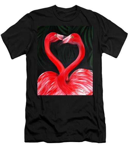 Love  Is... Flamingo Love. Inspirations Collection Men's T-Shirt (Athletic Fit)