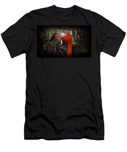 Flamingo Profile Men's T-Shirt (Slim Fit) by Sara  Raber