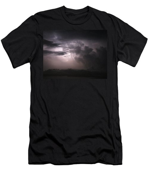 Flashes Of Lightening Men's T-Shirt (Slim Fit)
