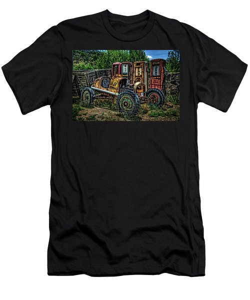 Men's T-Shirt (Slim Fit) featuring the photograph Flathead Ford Racer by Ken Smith