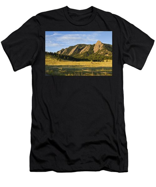 Flatirons From Chautauqua Park Men's T-Shirt (Athletic Fit)